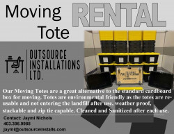 Outsource Installations Ltd Moving Tote Flyer Page 1