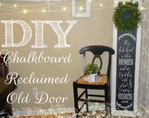 Chalkboard Relclaimed Old Door